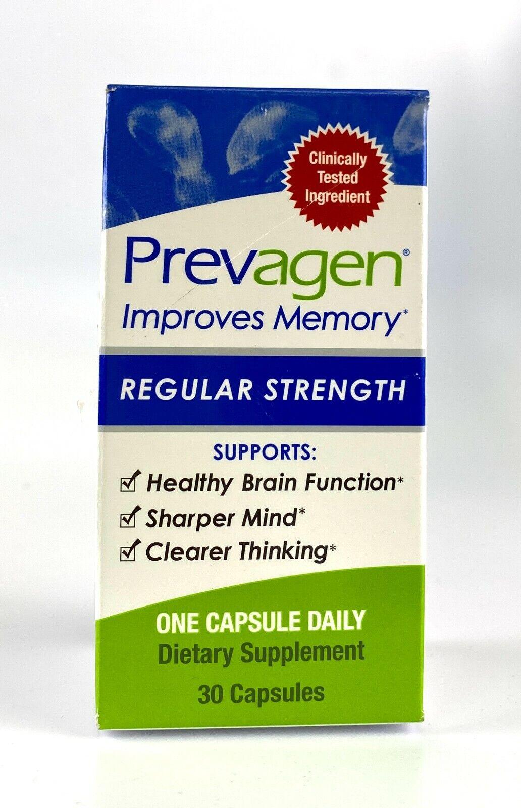 Prevagen Improves Memory Supplement Regular Strength 30 CapSealed
