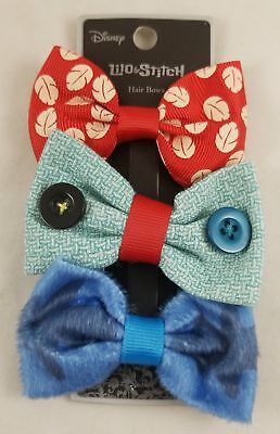 3-pack Haarspangen (Neu Disney Lilo & Stitch Charakter Haarschleife Set 3 Pack 3