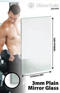 LARGE MIRROR GLASS GYM OR DANCE STUDIO 3MM THICK VALUE 6FT X 4FT 183CM X 122CM