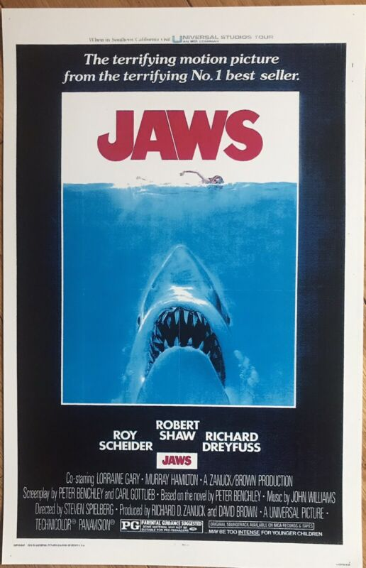 Jaws Movie Poster 11 x 17