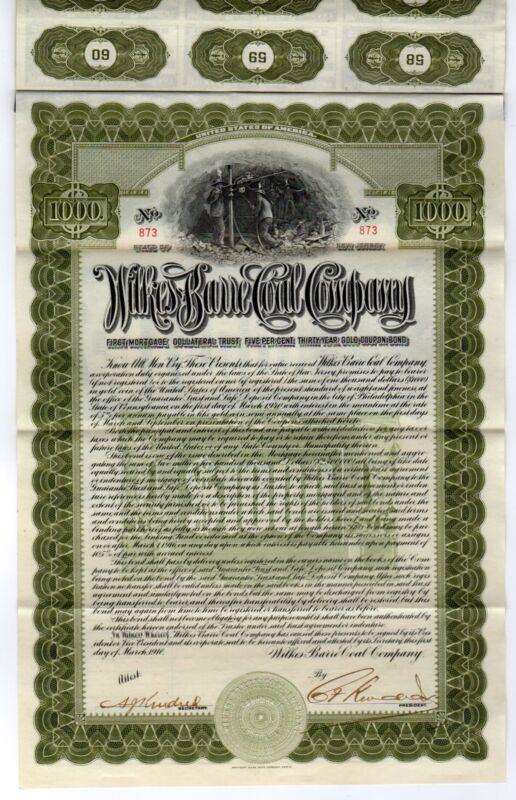 Wilkes-Barre Coal Company Bond