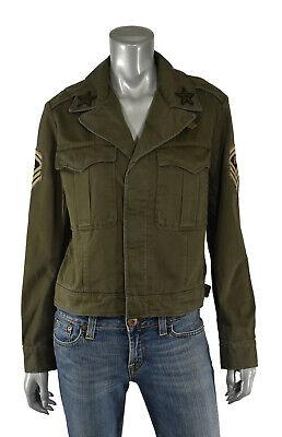 Damen Ralph Lauren Polo Grün Abgeschnitten Armee Militär Jacke Neu - Armee Grün Abgeschnitten