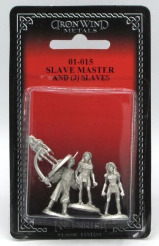 Ral Partha 01-015 Slave Master & Slaves (NPC Encounters) Female Victims Captives