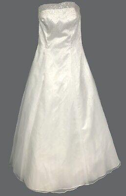 Mori Lee Size 14 White A Line Ball Gown Wedding Dress + Shawl + Slip Wedding Dress Gown Shawl