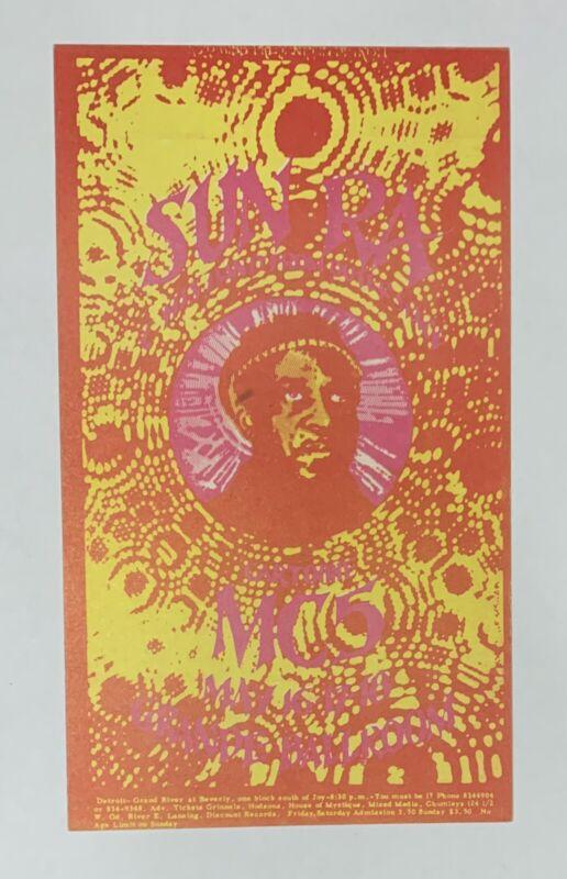 Sun Ra and MC5 Original Concert Postcard