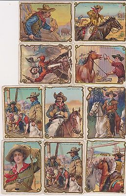 1910 Hassan Cigarette Cowboy PICK ONE CARD OR MORE Nice color NO CREASES