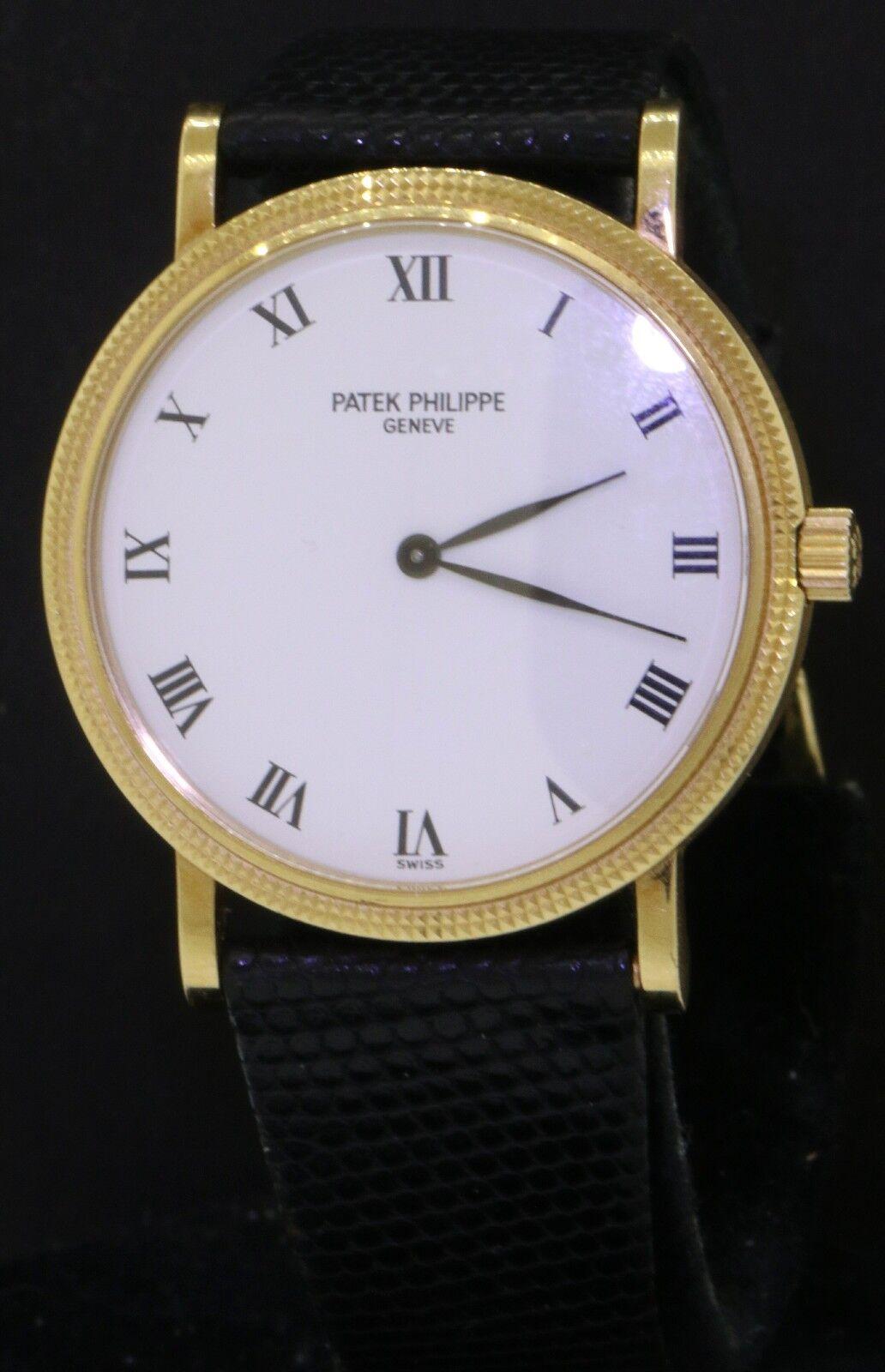 $8100.00 - Patek Philippe Calatrava 3992 18K gold automatic men's dinner watch w/ B & P