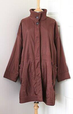 YACCO MARICARD maroon brown coat nylon polyester coat fleece lining OSFA shirin for sale  Shipping to Ireland