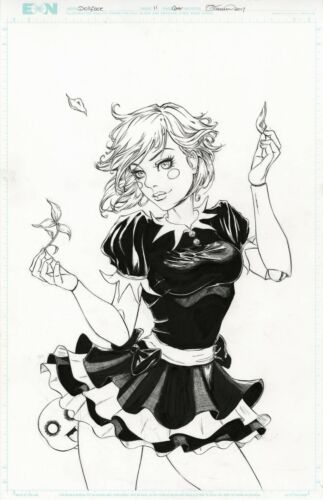 DOLLFACE #11 Cover Original Art BOTH VERSIONS by COLLETTE TURNER 2017 Sexy LILA