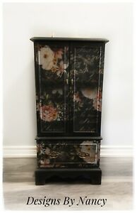 Lovely Refinished Bombay Jewelry/Lingerie Armoire!