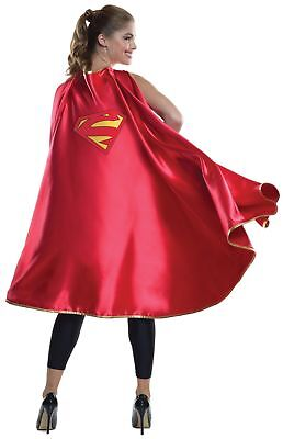 Adult Deluxe Supergirl Cape (Deluxe Women's Supergirl Red Cape DC Comics Super Hero Adult Costume Accesssory)