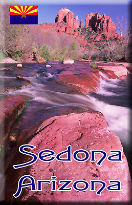 Sedona Arizona Fridge Magnet with image of Cathedral Rock