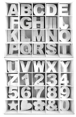 3 D Holz Buchstaben weiß 11 cm MDF A-Z  Deko Schrift Buchstabe Alphabet Zahlen ()