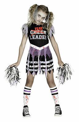 Zombie FearLeader Cheerleader Costume Girls S L Child Kids Halloween
