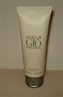 Acqua Di Gio by Giorgio Armani for Men 2.5 oz /75 ml After Shave Balm  New