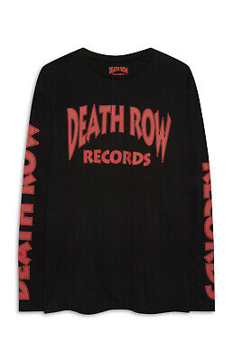 PRIMARK MENS DEATH ROW RECORDS LOGO BLACK LONG SLEEVE T SHIRT OFFICIAL...