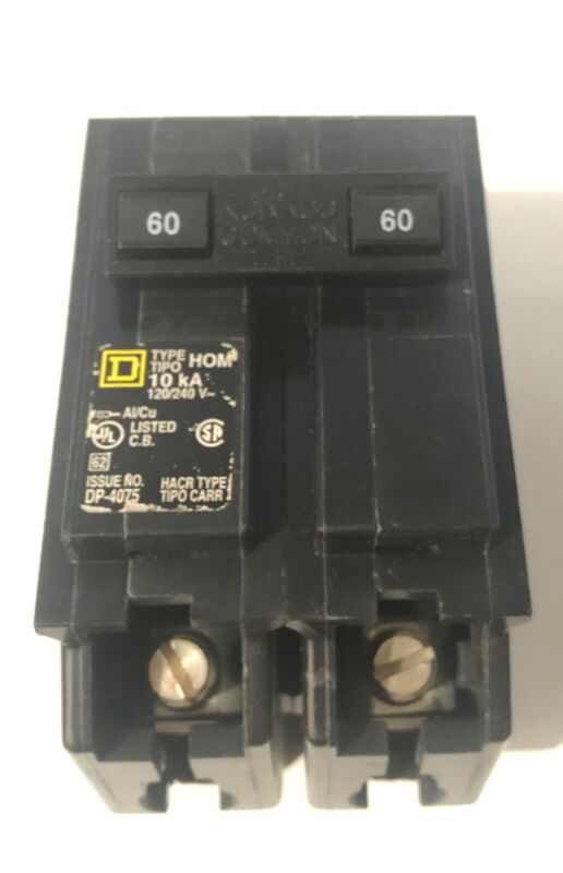 SQUARE D HOM260 60AMP 2 Pole Circuit Breaker