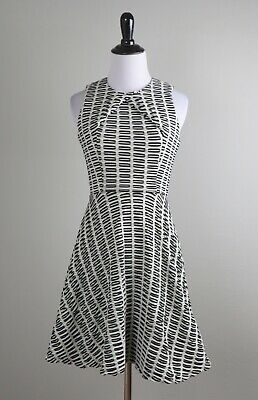 OPENING CEREMONY $590 Textured Stretch Twisted Skater A-Line Dress Size XS