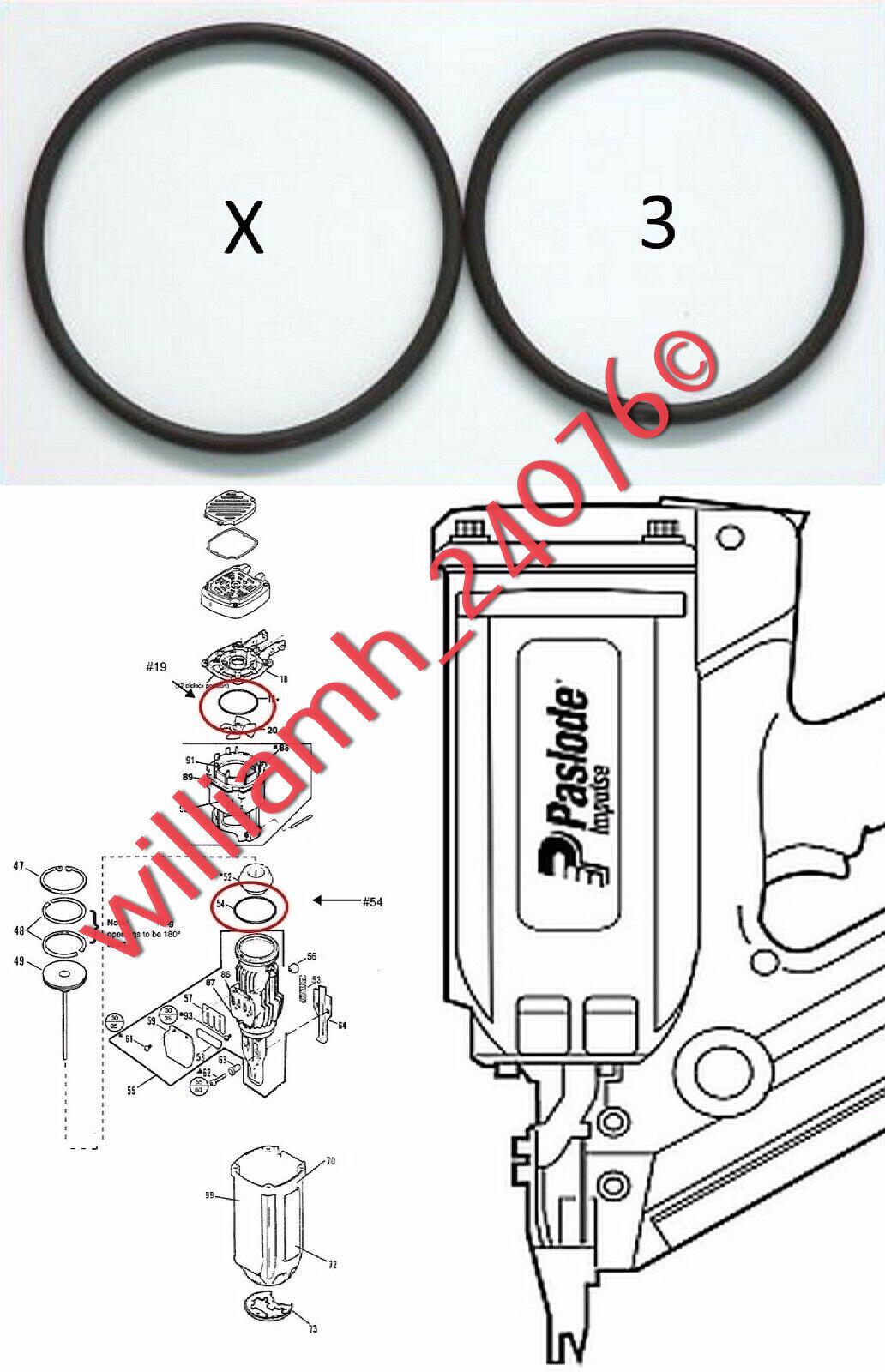 Paslode Parts Cordless Framing Nailer 900420 O-Ring Kits X3