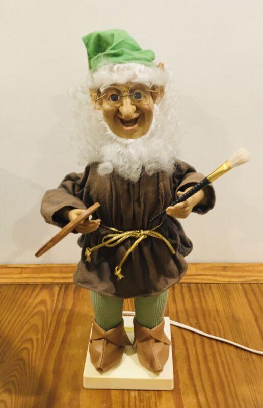"""VTG 21"""" Animated Telco Motionette Christmas Elf Santa"""