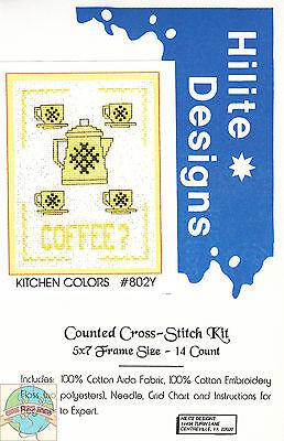 Cross Stitch Kit ~ Kitchen Colors - Coffee? #HD802Y OOP SALE!