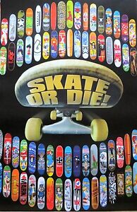 SKATE OR DIE-Skateboard-Licensed POSTER-90cm x 60cm-Brand New-Skateboarding