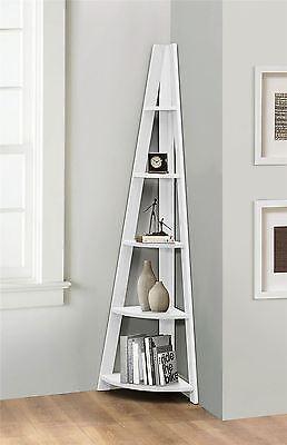 Birlea Nordic Scandinavian Retro Corner Ladder Bookcase Shelf Unit White