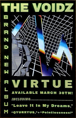 THE VOIDZ Virtue 2018 Ltd Ed RARE POSTER +FREE Rock Punk Alt Poster! THE STROKES