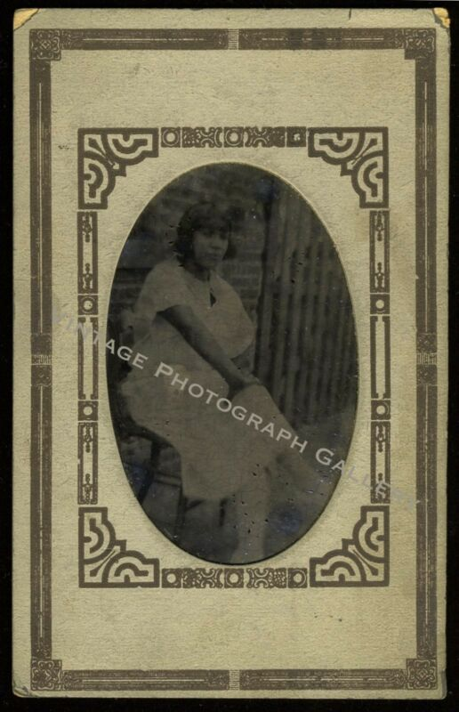 Antique Photo Black Woman African American 1920