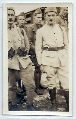 WWI French infantry soldiers original photo, regiment number on uniform collar