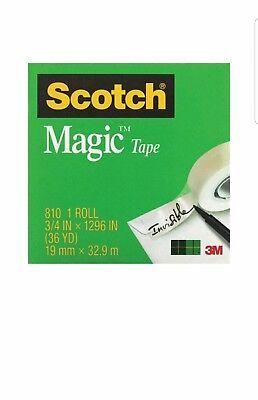Scotch Magic Invisible Tape 34 X 1296 810