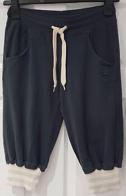 Activewear-crop Hose (FREDDY Charcoal Grey Metallic Hem Casual Activewear Crop Capri Trousers Pants M)