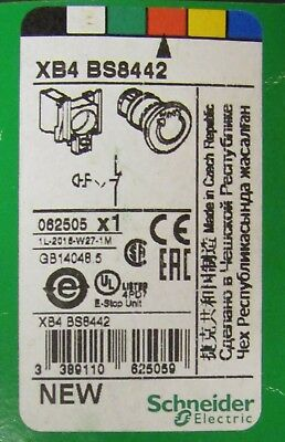 SCHNEIDER ELECTRIC XB4 BS8442 Twist Release Red Mushroom Head ESTOP Push Button
