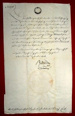 1824 Wien - FELDMARSCHALL Heinrich von BELLEGARDE e.U. Ernennung HOFKRIEGSRAT