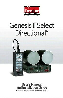 Decatur Genesis Ii Select Ka Band Radar W 2 Antennas W Window Mounts