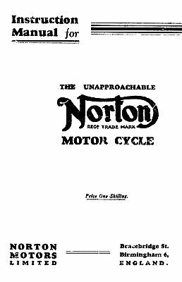 (0802) 1933-1936 Norton all models Instruction manual