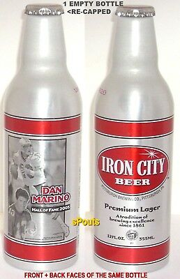 DAN MARINO PITT PANTHERS-MIAMI DOLPHIN SPORT ALUMINUM BEER BOTTLE-CAN PITTSBURGH
