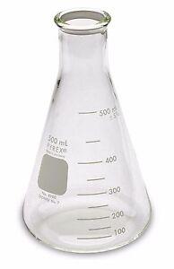 Corning Pyrex® #4980 Erlenmeyer Narrow Mouth, Glass Flask, 500ml - Single