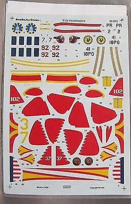 1/48 AeroMaster decals 48-063 P-26 PEASHOOTERS mint