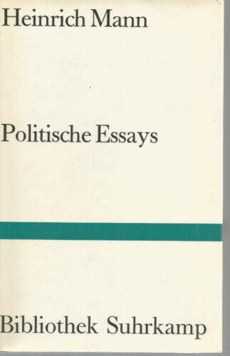 Heinrich Mann: Politische Essays