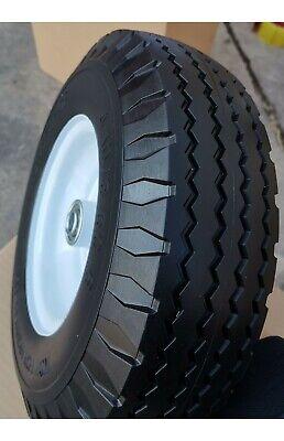 2 New 4.103.50-6 Flat Free Hand Truck Utility 13tire Wsteel Rim Hub 3.25-5