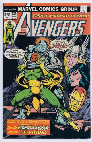 Avengers 135 VF 8.0 Bronze Age Origin of the Vision