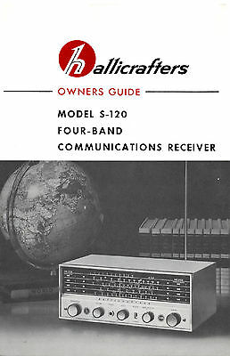 Hallicrafters S-120 4-Band AM Shortwave Radio Receiver Manua