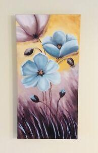 Beau  tableau peint à la main  pour  décoration intérieur  60 $