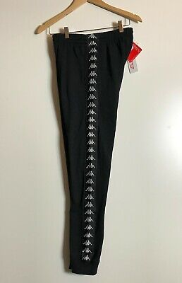 Kappa Track Pants Joggers Slim Fit Large Black Sweatpants Size Medium