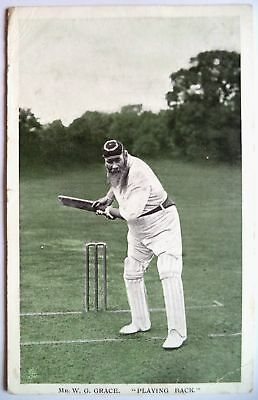 "W. G. GRACE GLOUCESTER & ENGLAND 1907 ""IN THE OPEN"" RAPH TUCK CRICKET POSTCARD"