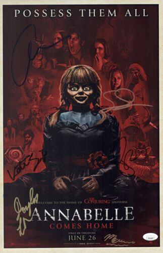Patrick Wilson ANNABELLE COMES HOME Cast X6 Signed 11x17 Photo Autograph JSA COA