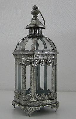 Antike Kerze Laterne (Gartenlaterne WINDLICHT Metall Leuchte Windschutz Kerze Teelicht rustikal)