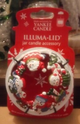YANKEE CANDLE CHRISTMAS SNOWMAN SPARKLY ILLUMA LID BRAND NEW  - Sparkly Candles