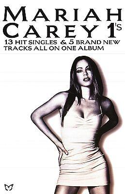 """MUSIC POSTER~Mariah Carey """"1's"""" 13 Hit Singles 1998 Original 20x30"""" Promo UK NOS"""